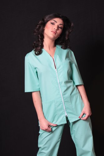 female-healthcare-worker-uniform-with-zip-tunic-trousers-xs-green-mint