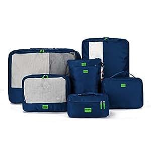 giancomics 7 pcs kofferorganizer packtaschen koffer w schtaschen kleidertaschen luggagebags. Black Bedroom Furniture Sets. Home Design Ideas