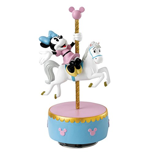 Enesco Enchanting Disney Figurita Minnie Mouse, Caja De Música Carrusel, Resina, 17x17x18 cm