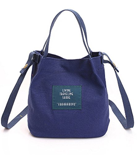 Blue Vessel Segeltuch-Stickerei-Schulter-Beutel-Frauen-Kurier-Beutel-Damen-Handtaschen-Strand-Tote Blau