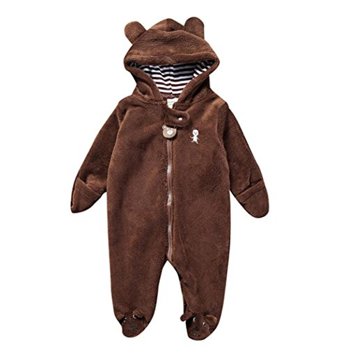 Baby Bear Style Bag Zipper Suitcase Jersey Autumn Winter Newborn Infant Boy Girl Hoodie Jumpsuit Romper Clothes