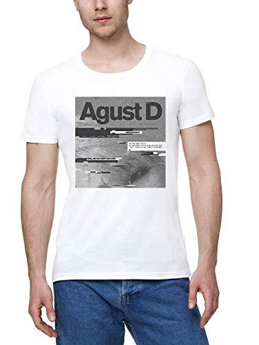 AG(litch) ust D Agust d Uomo Maglietta Bianco | Men's White T-Shirt Tshirt T Shirt