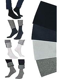 Calcetines hombres algodon peinado de alta calidad -  Pack 6 pares - Tallas 36 a 46