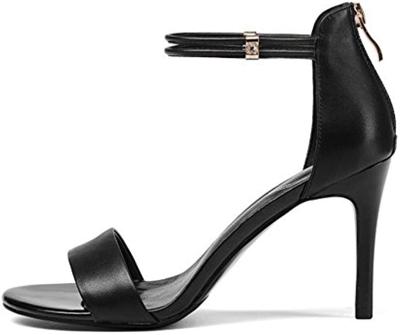 cy Sommer Damen Sandalen Fußringe Open Toe Zurück Zips High Heels Stiletto Pumps Für Bankett Dating Damenschuheö