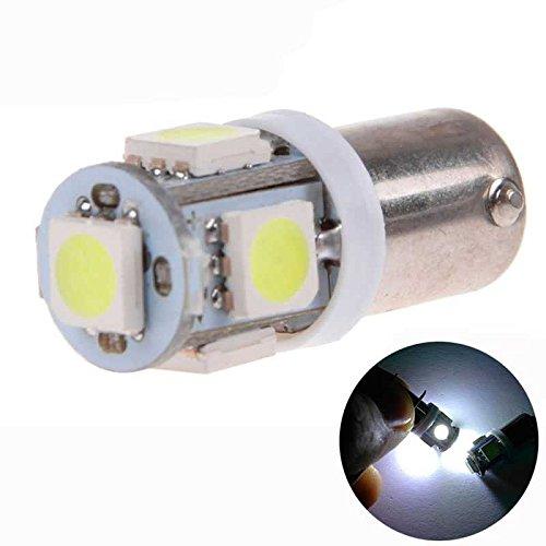 2x Ampoule Bulb Veilleuse Blanc BA9S T4W 5 LED 12V DC pour Voiture