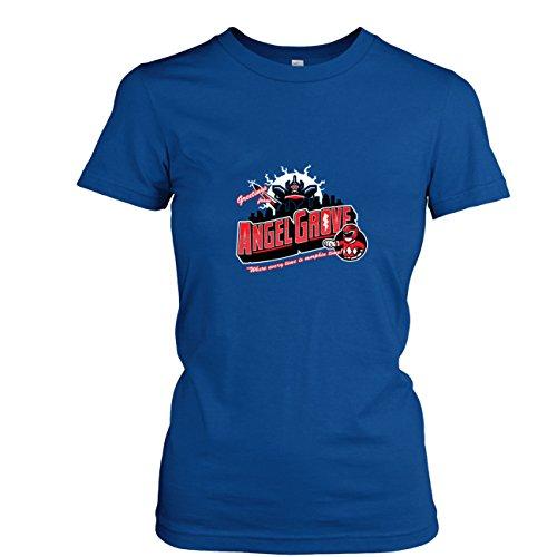 Texlab - Greetings from Angel Grove Red - Damen T-Shirt, Größe L, - Power Rangers Turbo Blauer Ranger Kostüm