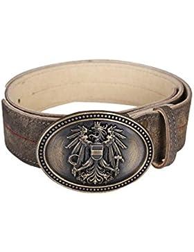 Krüger - Herren Trachtengürtel in Braun, Österreich (9934-778)