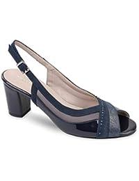6accb3989f494 VALLEVERDE 45507 Sandalo Scarpe Tacco Pelle Donna Nero