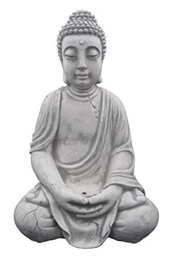 Wunderschöner, großer Buddha aus Steinguss