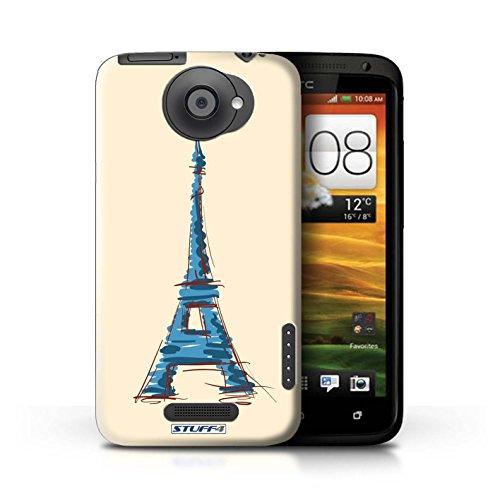 Kobalt® Imprimé Etui / Coque pour HTC One X / Pyramides conception / Série Monuments Tour Eiffel / Paris