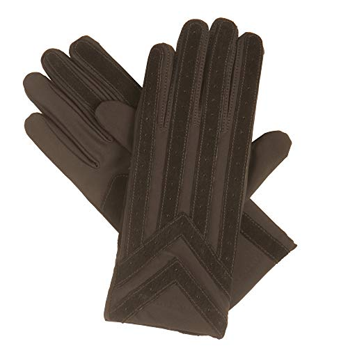 Isotoner Nylon-handschuhe (Totes ISOTONER Männer StrickenLined Elasthan Fahren Handschuh, Braun, XL)