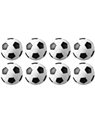 Tadudu Table Soccer Foosballs Game Replacements 32mm/1.26 In Mini Football BallsBlack and White