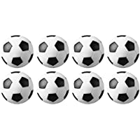 Tadudu Table Soccer Foosballs Game Replacements 32mm/1.26 In Mini Football Balls Black and White