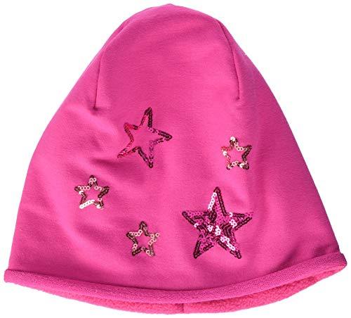 maximo Baby-Mädchen Mütze 83503-867400, Beanie, Jersey mit Futter, Sterne, Pink (Dunkelpink 57), 49/51