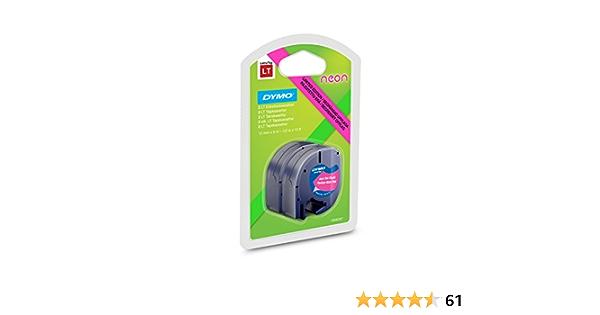 Beschriftungsband NEON pink 2er Pack Plastik 12mm alternativ für Dymo LetraTag