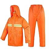 Adult Raincoats Guyuan Reflektierender Regenmantel Orange Sanitarbeiter Split Regenmantel Regenhose