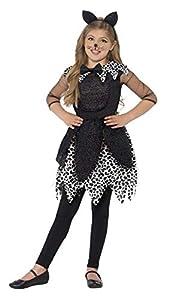 Smiffys 44287L - Disfraz de gato de medianoche para niñas, talla L, color negro