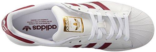 Adidas Superstar White Black Womens TrainersC77153 White/Cardinal/Metallic/Gold