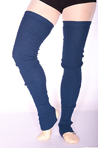 Stulpen für Ballett und Tanz gerippt (96 cm lang) (Azul Mar) -