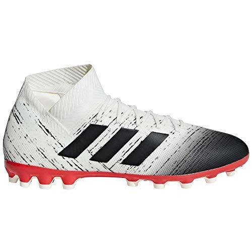 adidas Herren Nemeziz 18.3 AG Fußballschuhe, Weiß Off White/Core Black/Active Red, 44 EU