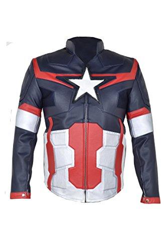 Jacke Kunstleder, Design: The Avengers Captain America Age of Ultron 2015, mehrfarbig Gr. L, Multi Color
