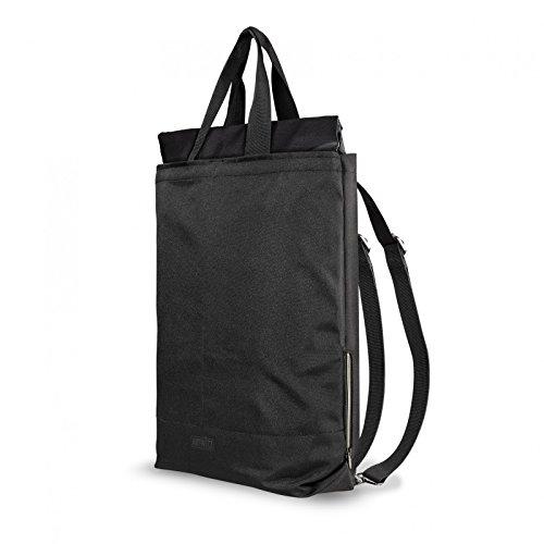 Artwizz Eco Backpack Nachhaltiger 2in1 Rucksack und Trage-Tasche aus 100% recyceltem PET mit 22 Liter - Seitliches Notebook-Fach für Laptop & Macbook bis 15 Zoll - Schwarz
