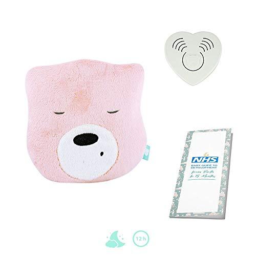 Szumisie Mini-Kopf-Spielzeug, rosa/weiß, mit Basis-Sound, geeignet ab der Geburt, 60 Minuten verblassen, inkl. Bedienungsanleitung (in englischer Sprache)
