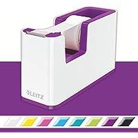 Leitz Dispensador de cinta adhesiva WOW de Leitz, Blanco/Púrpura