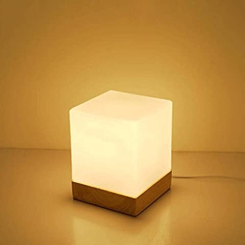 Lámpara de madera sólida Pequeño Mesita de noche lámpara moderna minimalista dormitorio de la lámpara de madera caliente del original pequeña lámpara de mesa de