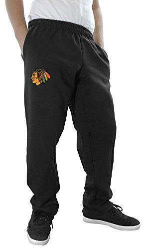 NHL Men's Official Team Sweatpants (X-Large, Chicago Blackhawks) (Blackhawks Schwarz Jersey)