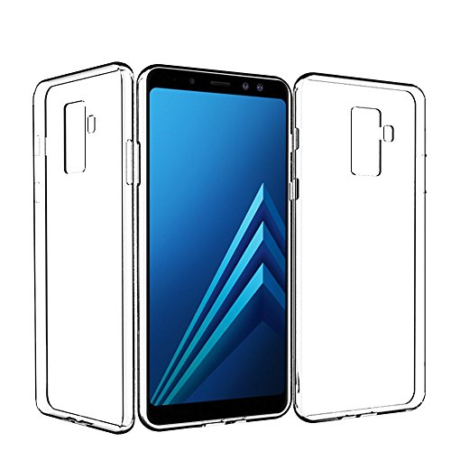 KingShark Samsung Galaxy A6 Plus 2018 Hülle, TPU Schutzhülle Dünn Schlank Weich Flexibel Silikon Anti-Kratzer Schutzhülle Abdeckung Case Cover für Samsung Galaxy A6 Plus 2018 - transparent