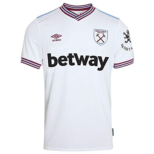 Umbro Herren West Ham Away S/S Jersey, weiß, XL -