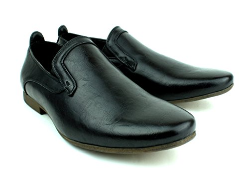 Da Uomo Nuovo Mocassini Casual Moccassini Eleganti Formali Office scarpe misura inglese Nero