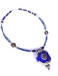 1f3c18717e6e India Jewel Store Colgante de Moda Collar Llamativo Hecho a Mano Estilo Tibetano  para Mujeres Lapis Coral Piedras…