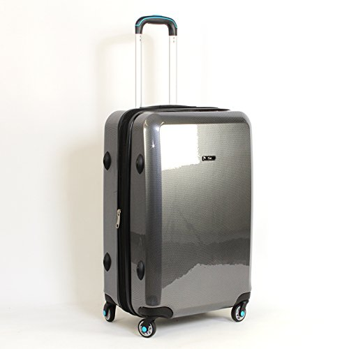 Koffer Trolley Reisekoffer Carbon Optik Polycarbonat Hartschalekoffer L