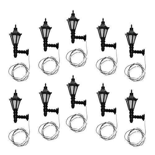 Miniatur-50 Licht-set (P Prettyia 10 Stück 1:50 Puppenhaus Miniatur Metall Lichter Wandleuchte Lampe Beleuchtung - Stil 1)