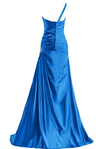 Gorgeous Bride Sexy Ein-Traeger Etui Satin Lang Abendkleid Festkleid Ballkleid Violett