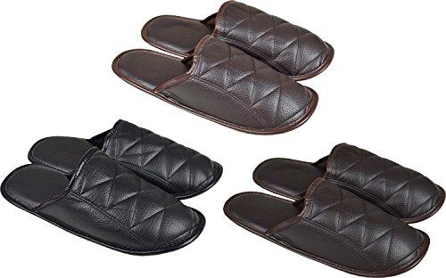 Men's (Leder-Look, Leder-Look, Hausschuhe, Pantoffeln, In 3 Farben Hellbraun