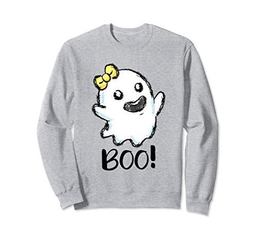 Geist Spuk Kostüm - Boo Geist Halloween Kostüm kleines Gespenst Spuk Geister Sweatshirt