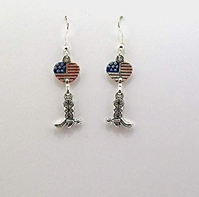 Boucles d'oreilles,western, country,cowboy,bottes de cowboy, country dance, cowgirl