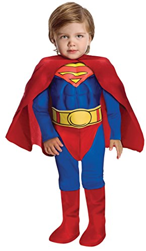 Superman - Deluxe Muscle Chest - Kinder-Kostüm - Kleinkind - 94cm (Deluxe Muskel Brust Superman Kostüme)
