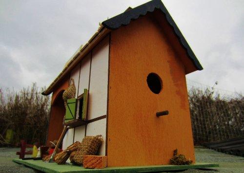 XXL Vogelfutterstelle Futterhäuschen, Vogelfutter Platz, Futterscheune und Nistkasten - 6
