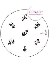 Plaque disque motifs M75 Konad stamping nail art