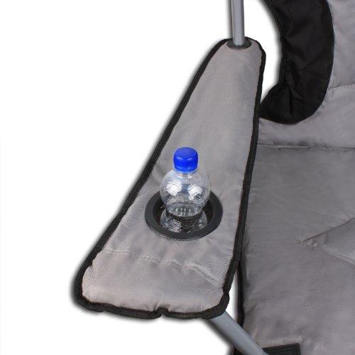Campingstuhl Klappstuhl Faltstuhl bis 120kg inkl Kühltasche verschiedene Farben - 2