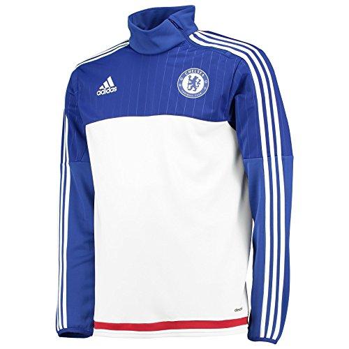 adidas Herren Sweatshirt FC Chelsea Trainingsoberteil, White/Cheblu/Powred, M, AC4963 (Chelsea Pullover)