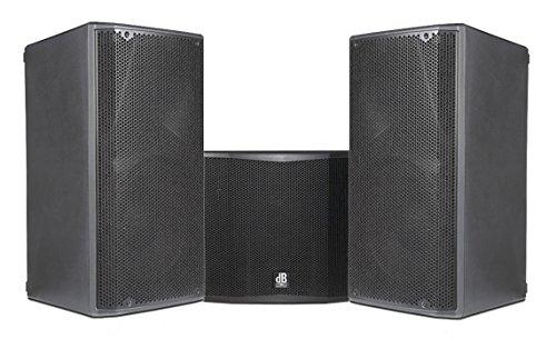 DB Technologies Anlage Audio Profi Komplett 3800W PAAR Opera 12Aktive Lautsprecher/Subwoofer