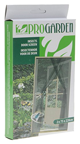 ProGarden 2 Moustiquaire Pour Porte Contre Insectes (75 x 220 cm) - Avec 660 cm De Velcro Anti-Déchirure