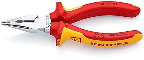 KNIPEX 08 26 145 Pince universelle multifonction à becs demi-ronds homologuée VDE