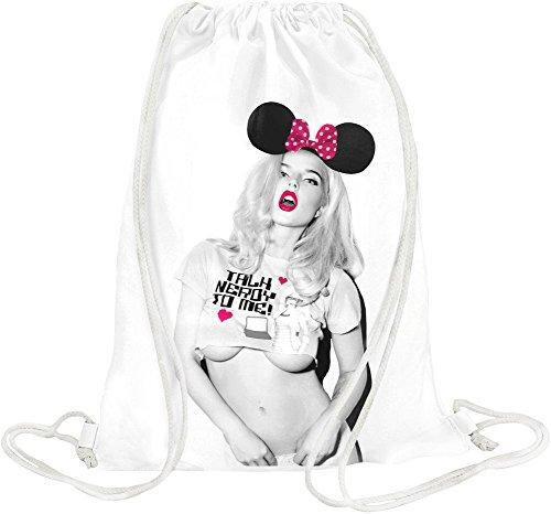 Sexy Hot Blonde Girl Drawstring bag