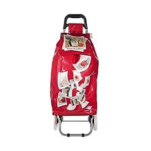 Chariot de shopping Ludik rouge